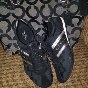 Coach Jayme Black & Silver Sneakers
